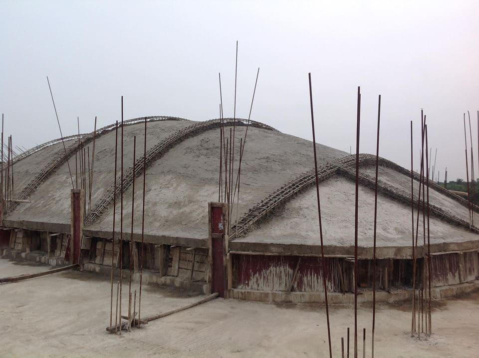 Изготовление крыши в процессе