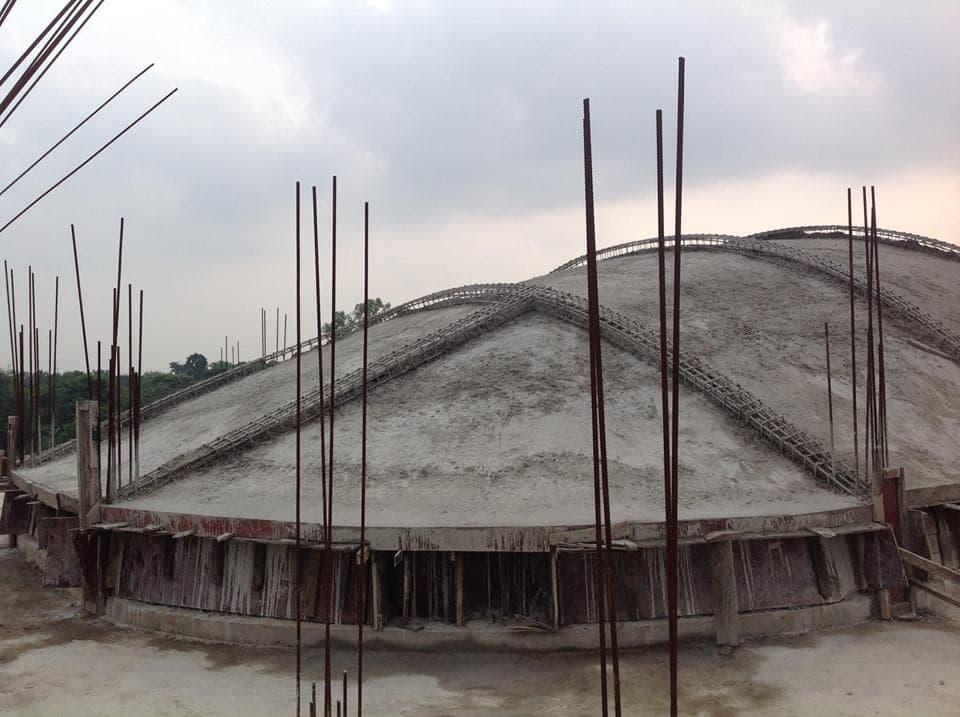 Изготовление крыши самадхи